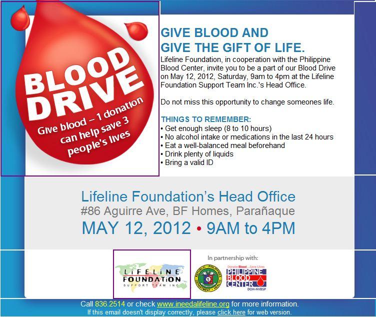 Lifeline Foundation Blood Drive 2012   Pinoy Fitness
