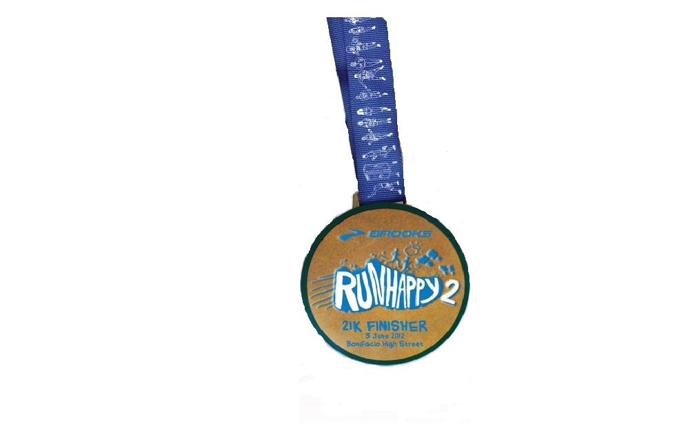 brooks 2012 21k finisher's medal