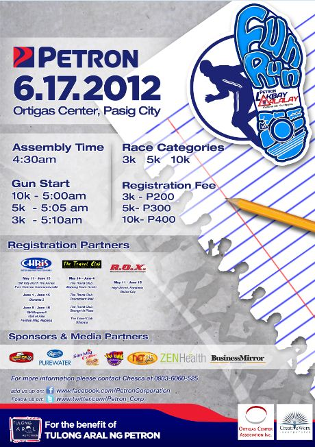 Petron Lakbay Alalay Fun Run race results and photos