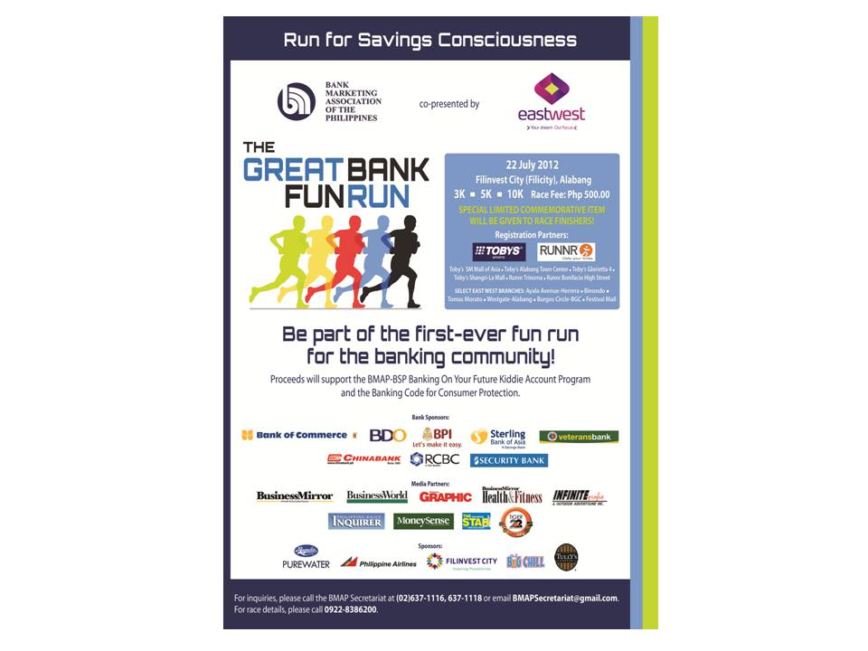 THE GREAT BANK FUN RUN poster 2012