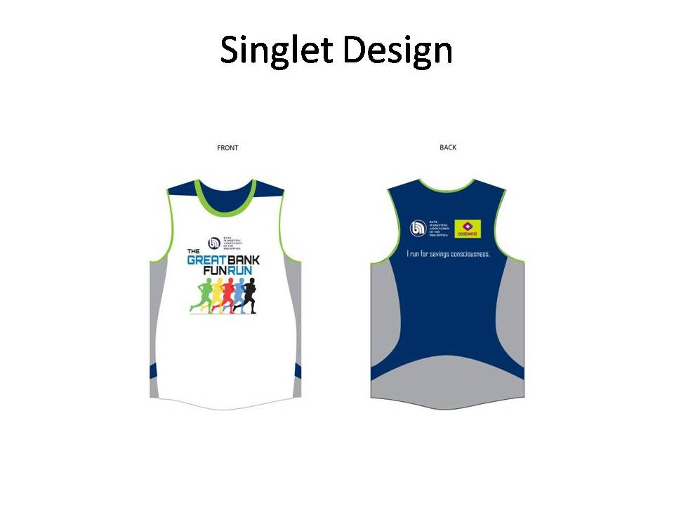 THE GREAT BANK FUN RUN singlet 2012