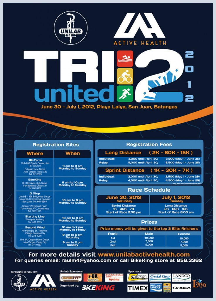 Unilab Tri-United 2 - Race Results and Photos