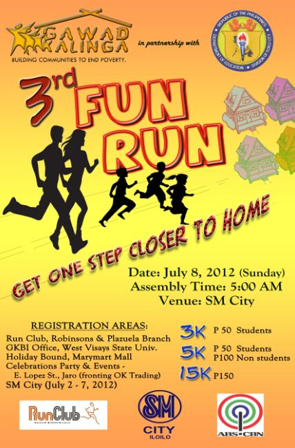 3rd Gawad Kalinga Fun Run 2012 race results and photos