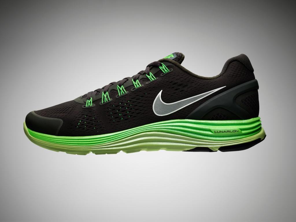 Nike LunarGlide+ 4 Black-Volt 2