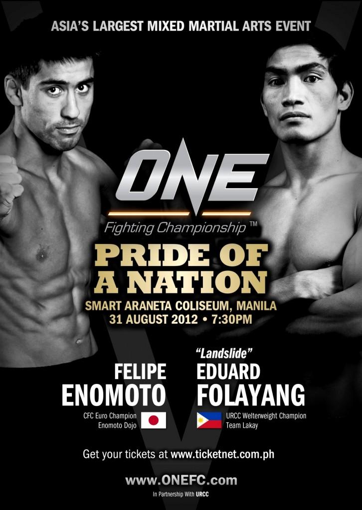 FELIPE VS EDUARD ONE FC Poster 2012