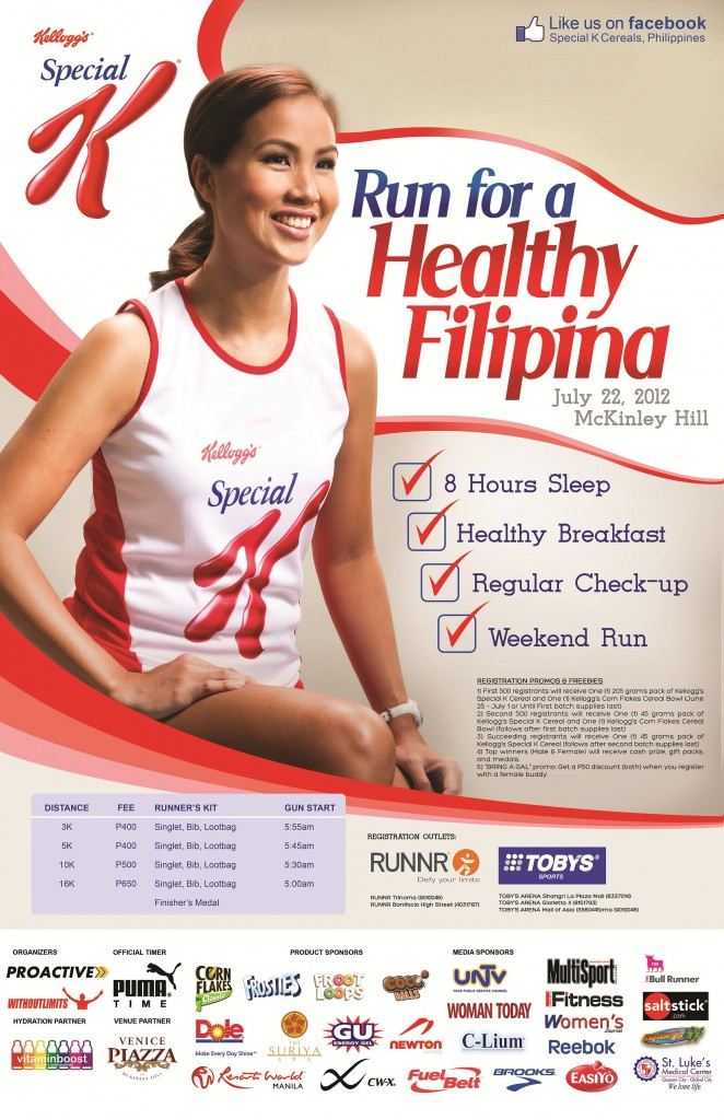 Kellogg's Run for Healthy Filipina 2012 race results and photos