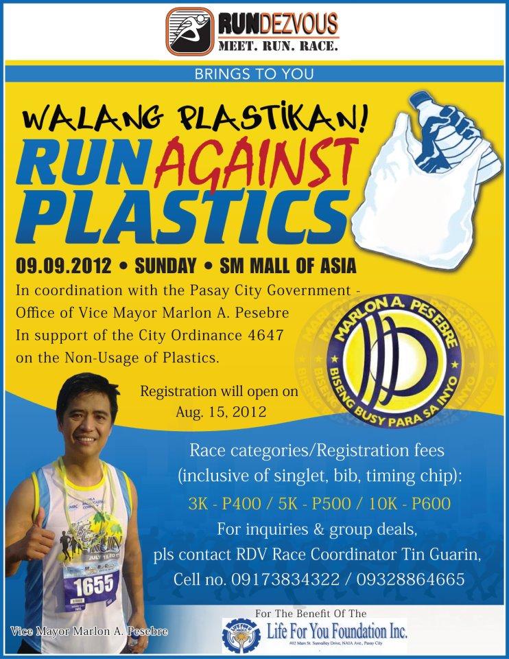 Run Against Plastics 2012 - Results Discussion