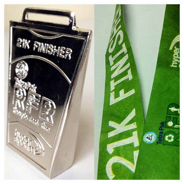 21K Finisher's Medal - tetrapak