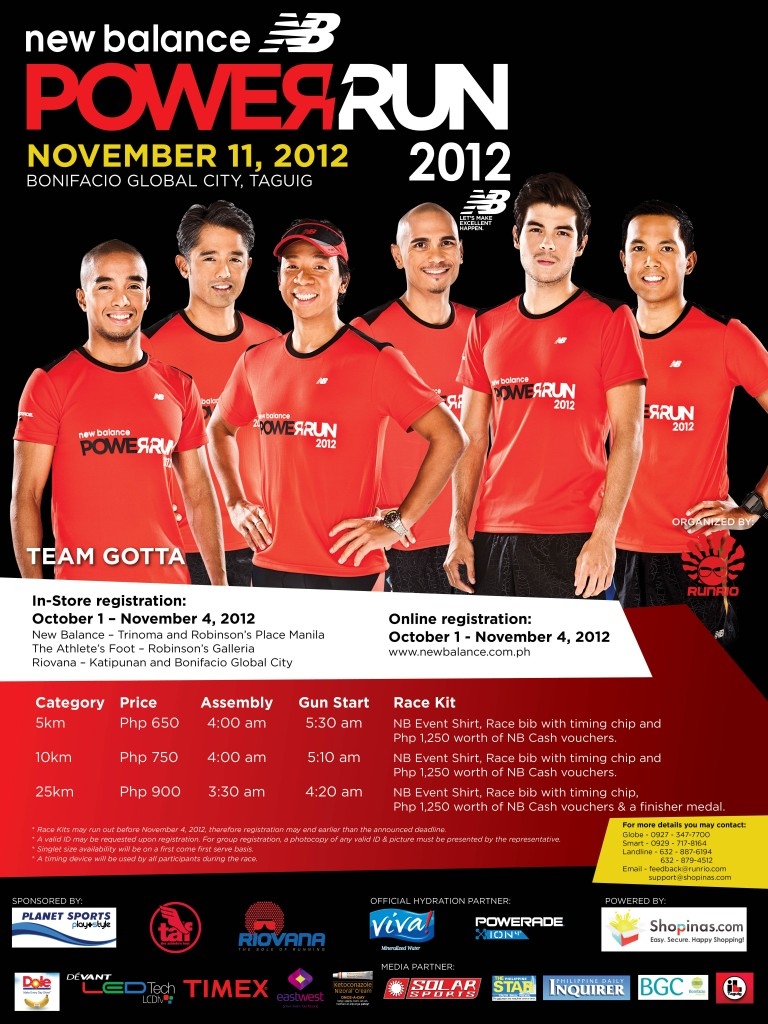NB Power Run 2012 Poster