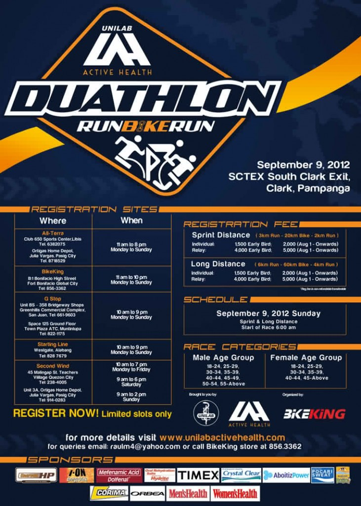 Unilab ActiveHealth Duathlon 2012 race results and photos