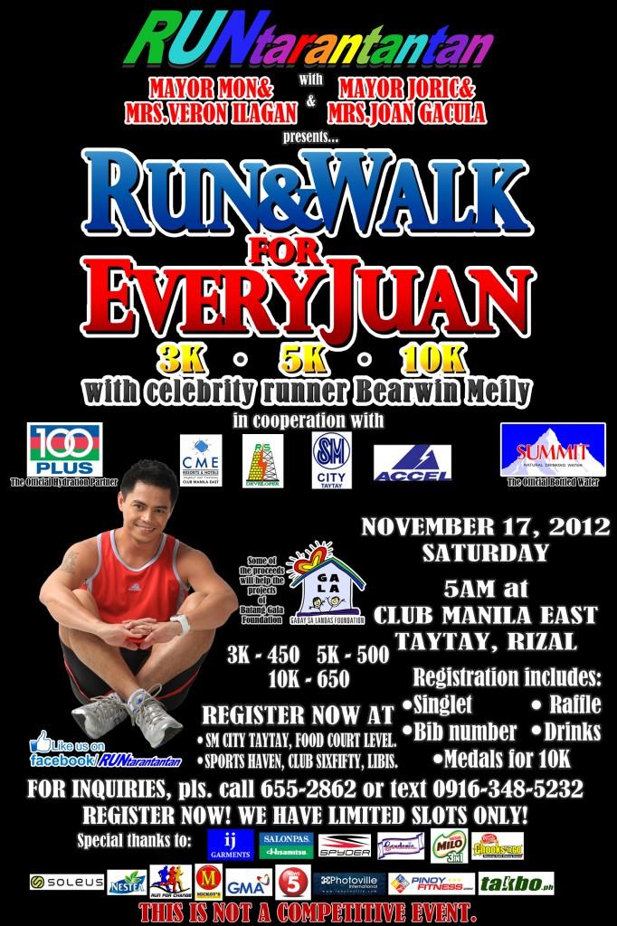 RUNandWALK for EVERYJUAN poster 2012