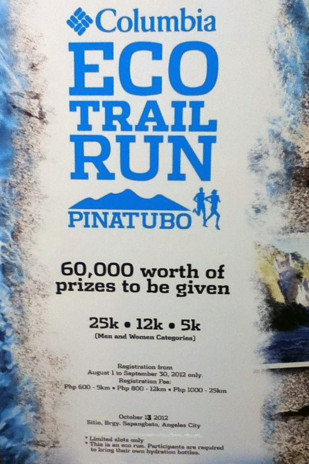 Columbia Pinatubo Eco-Trail Run 2012 race results and photos