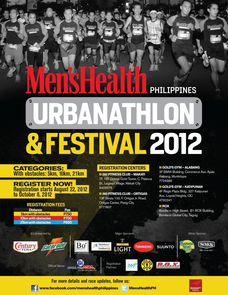Men's Health Philippines Urbanathlon 2012 race results and photos