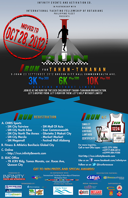 I RUN: A Run for Tahan-Tahanan 2012 race results and photos