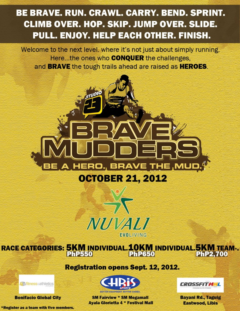Studio 23 Brave Mudders 2012 race results and photos