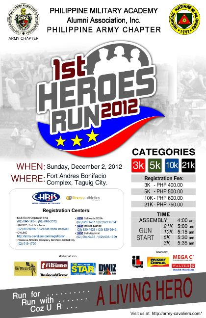1st Heroes Run 2012 race results and photos