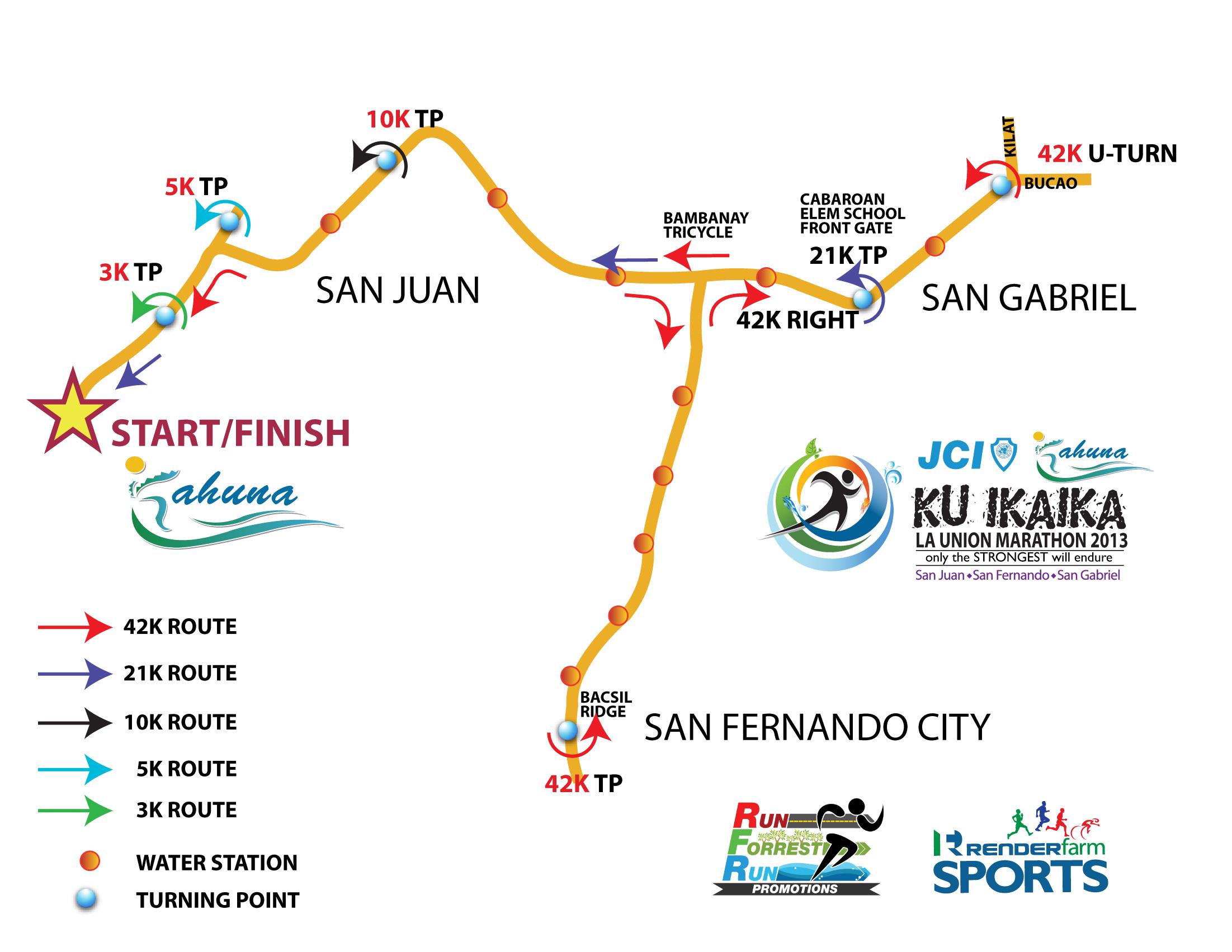 KU IKAIKA Marathon La Union Pinoy Fitness - Launion map