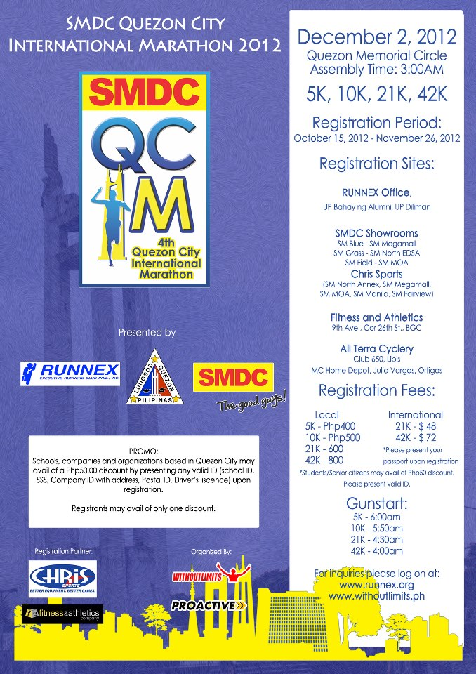 "4th Quezon City International Marathon ""QCIM"" 2012 race results and photos"