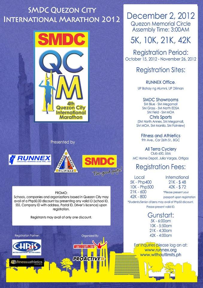 "4th Quezon City International Marathon ""QCIM"" 2012 race results and photos"