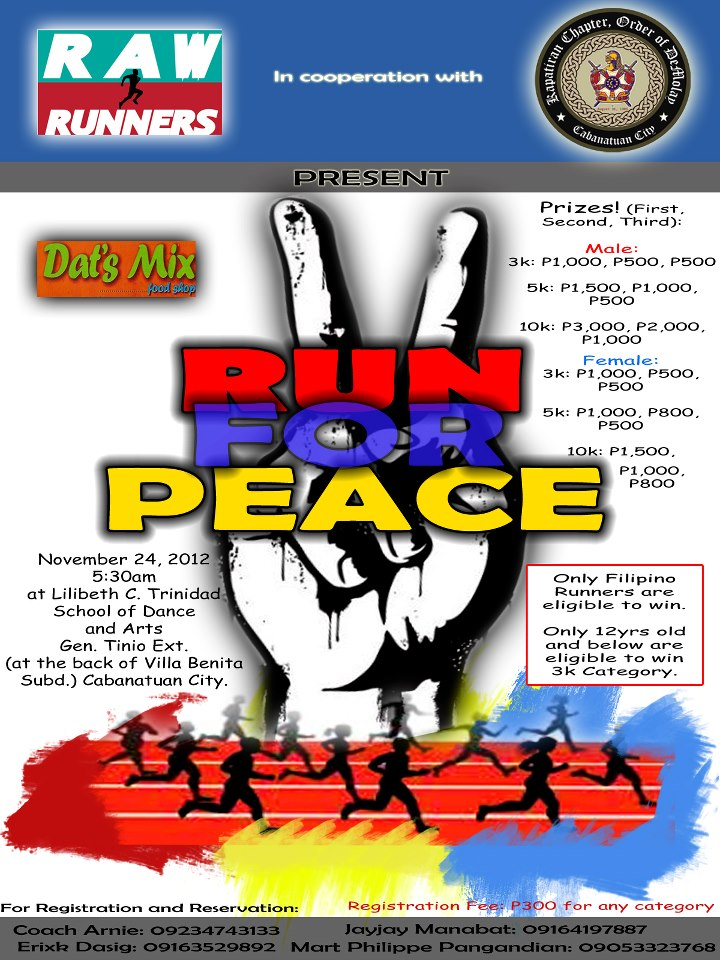 run-for-peace-cabanatuan-city-2012-poster