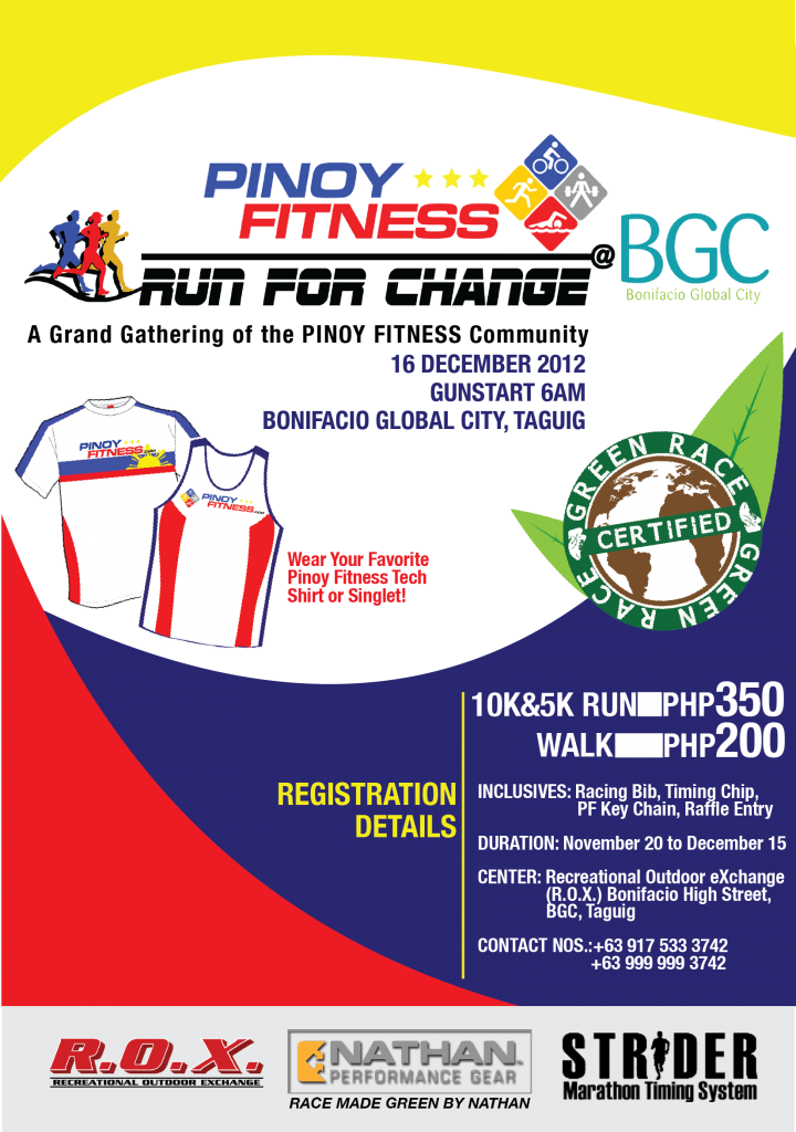 Pinoy Fitness Run for Change 2012 race results and photos