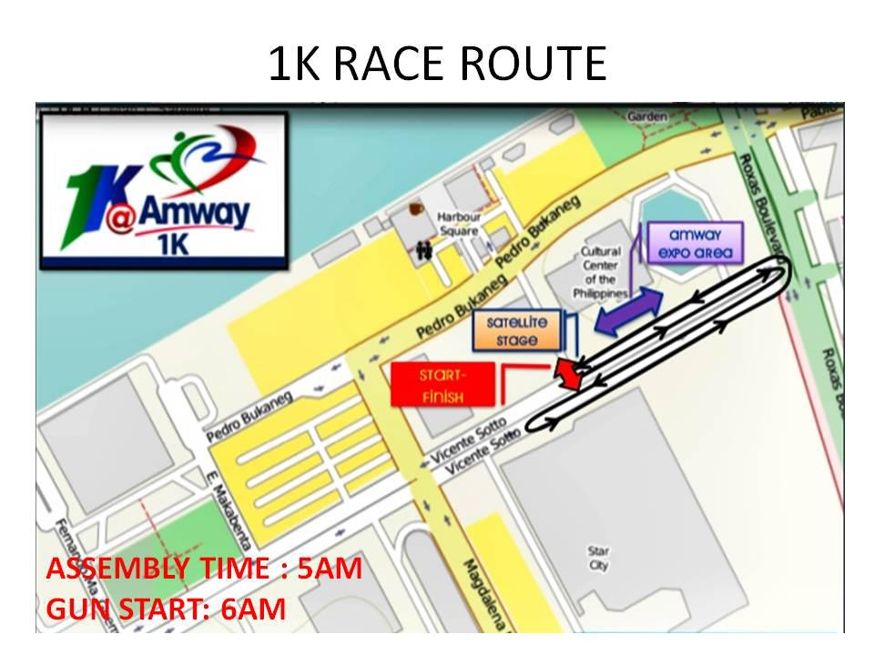 Amway-Fun-Run-2013-1K-Race-Route