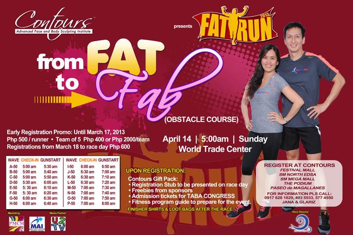Fat Run Poster 2013