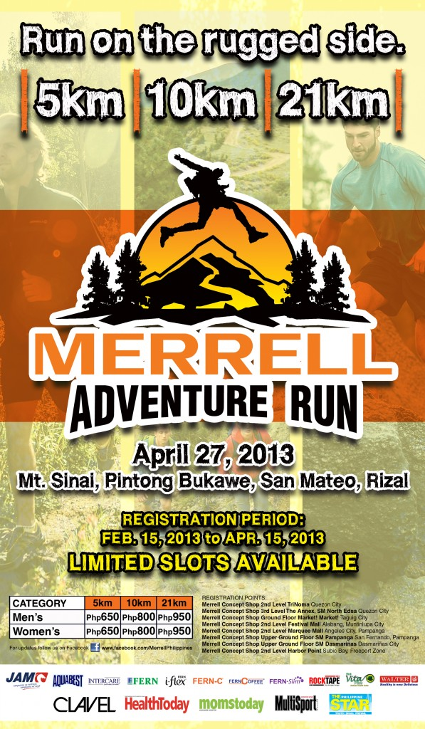MerrelL Adventure Run 2013 Poster