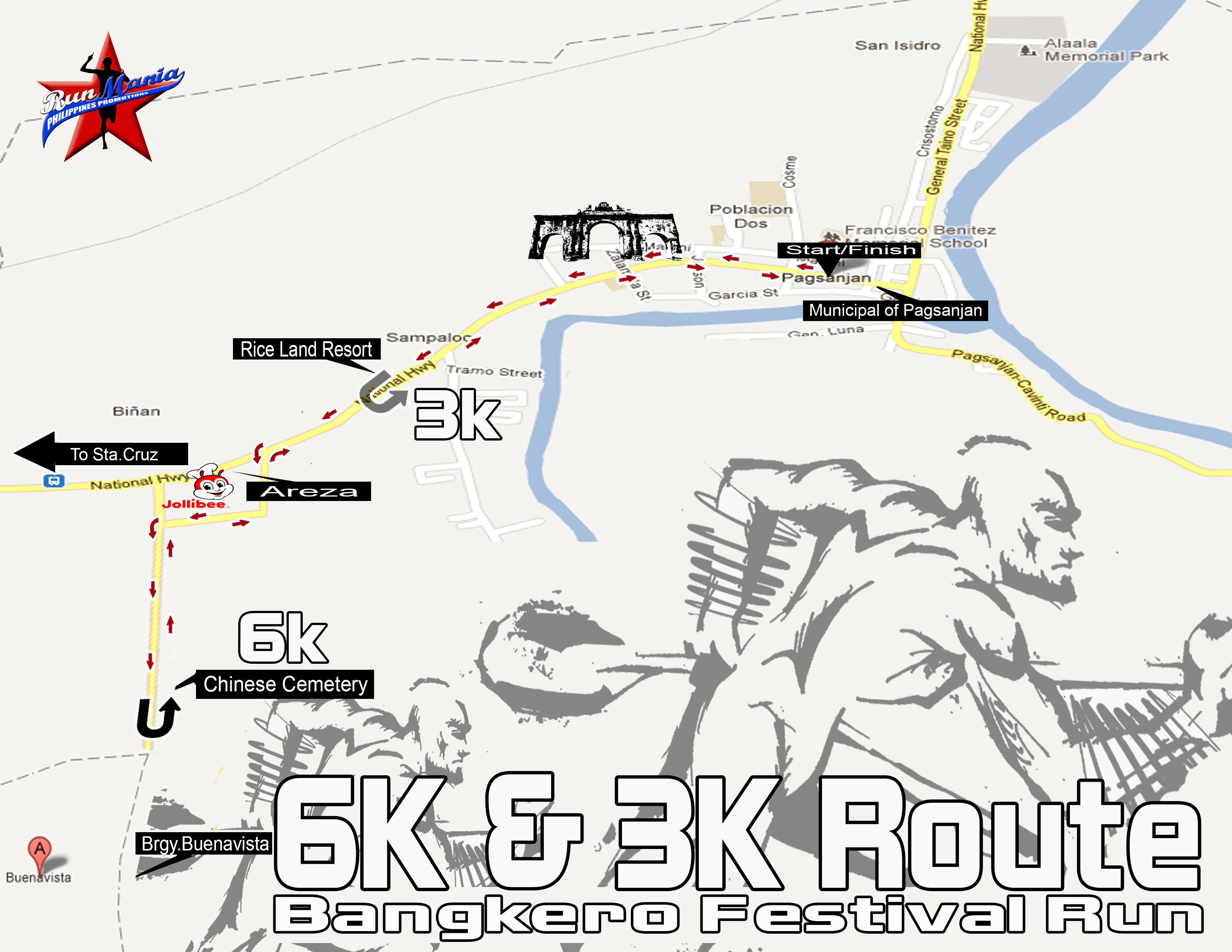 bangkero-festival-run-2013-3k-6k-route-map