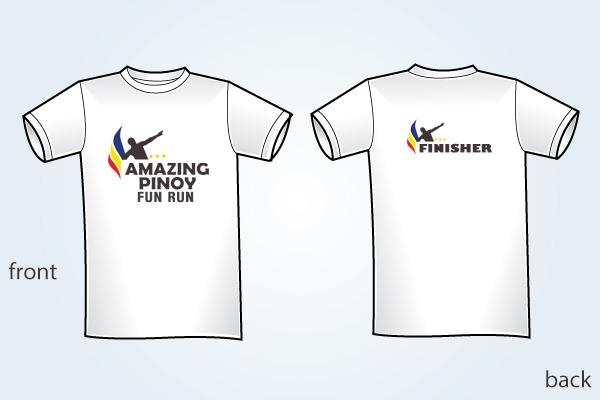 Amazing Pinoy finisher shirt no sponsor