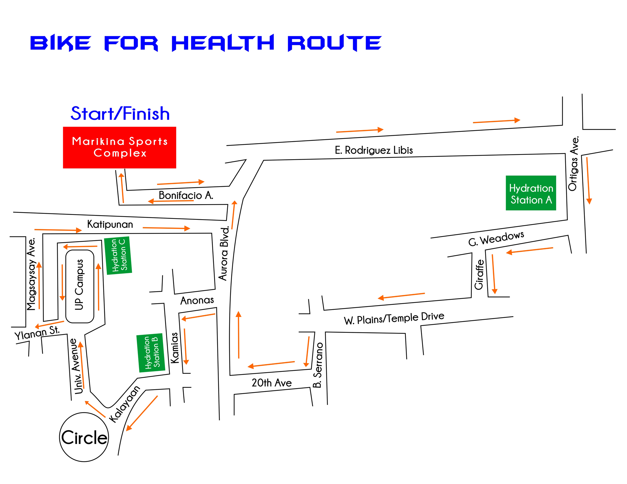 bike-for-health-2013-route-map