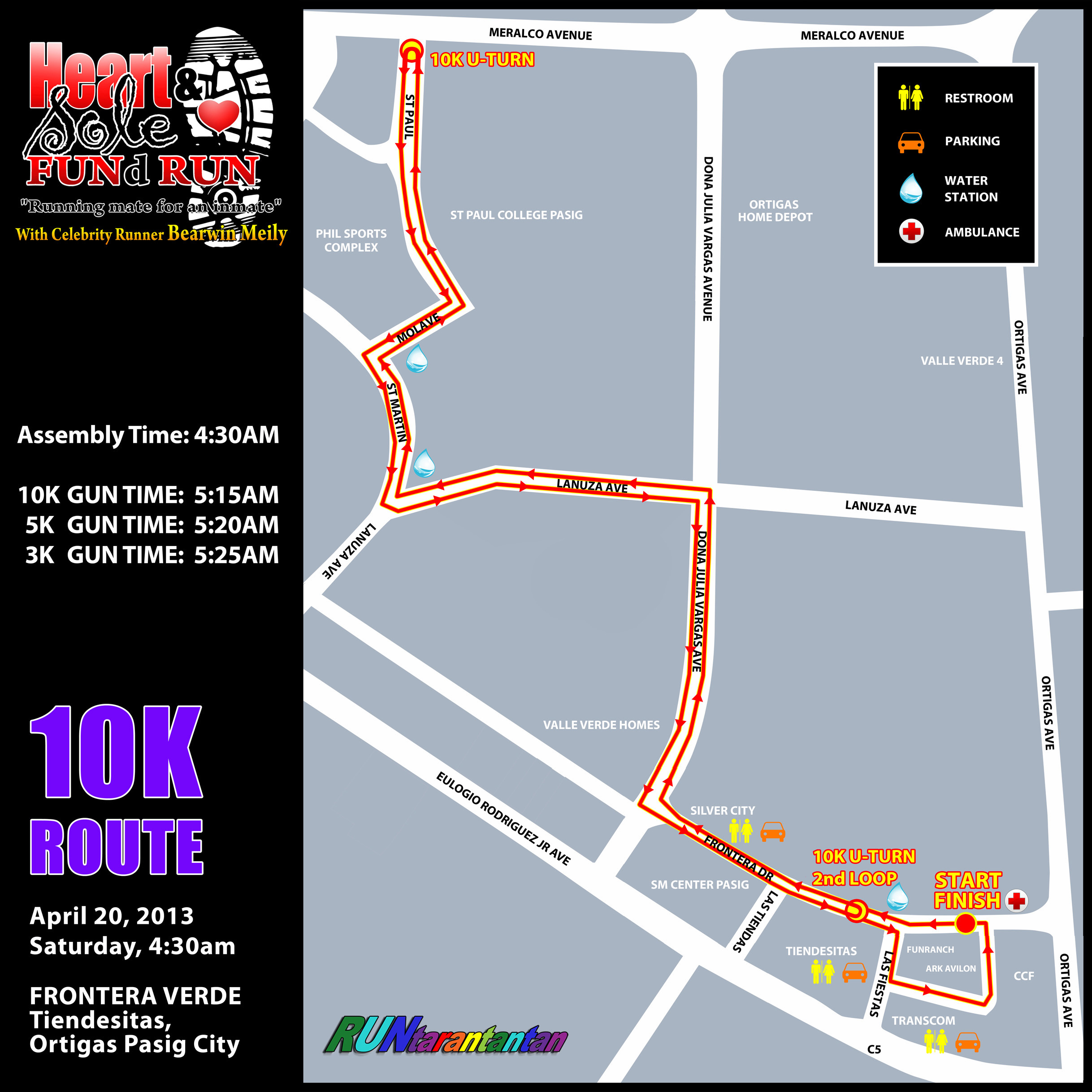 heart-and-sole-fund-run-2013-route-map-10k