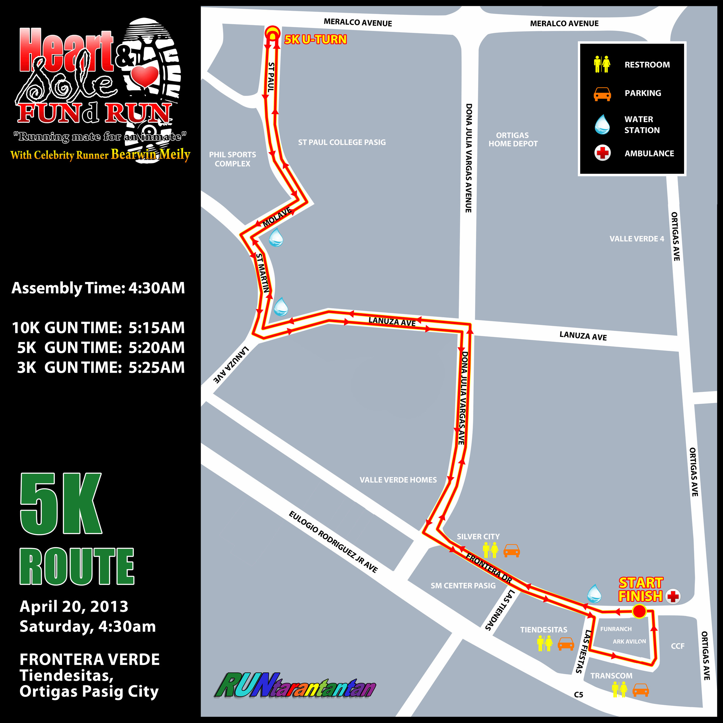 heart-and-sole-fund-run-2013-route-map-5k