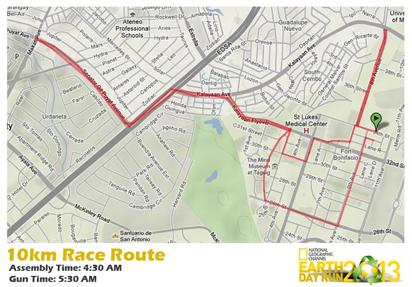 nat-geo-earth-day-run-2013-10k-route-map