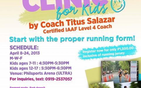 10-days-running-clinics-for-kids-2013-poster