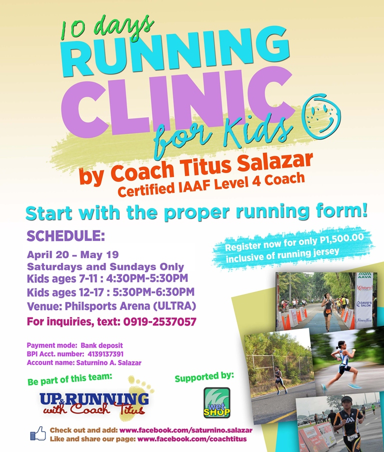 10-days-running-clinics-for-kids-weekends-2013-poster