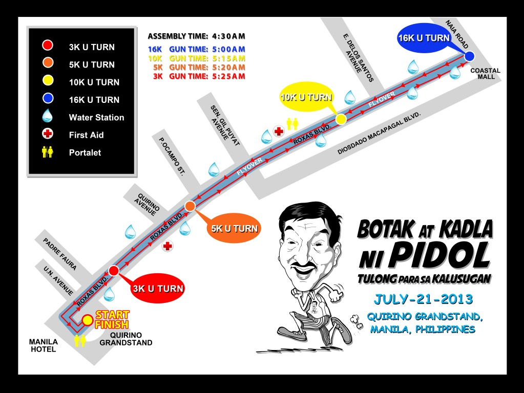PIDOL RACE ROUTE MAP