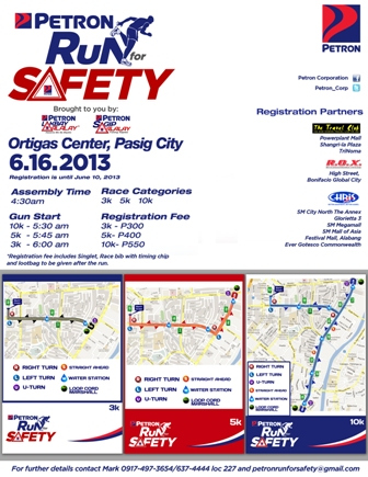 petron run for safety 2013 results and photos