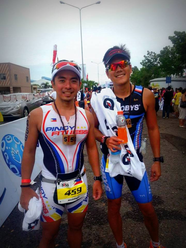 with Sir Toby who completed his first Olympic Distance Triathlon as well!