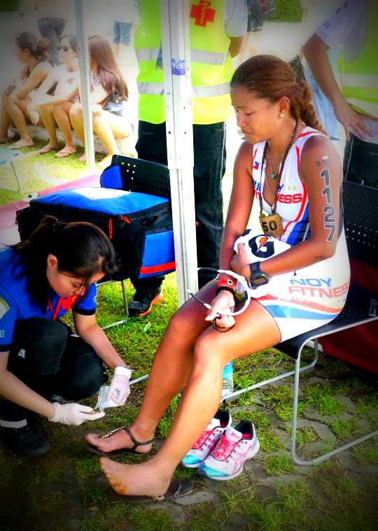 Tears of Joy and Pain after the race