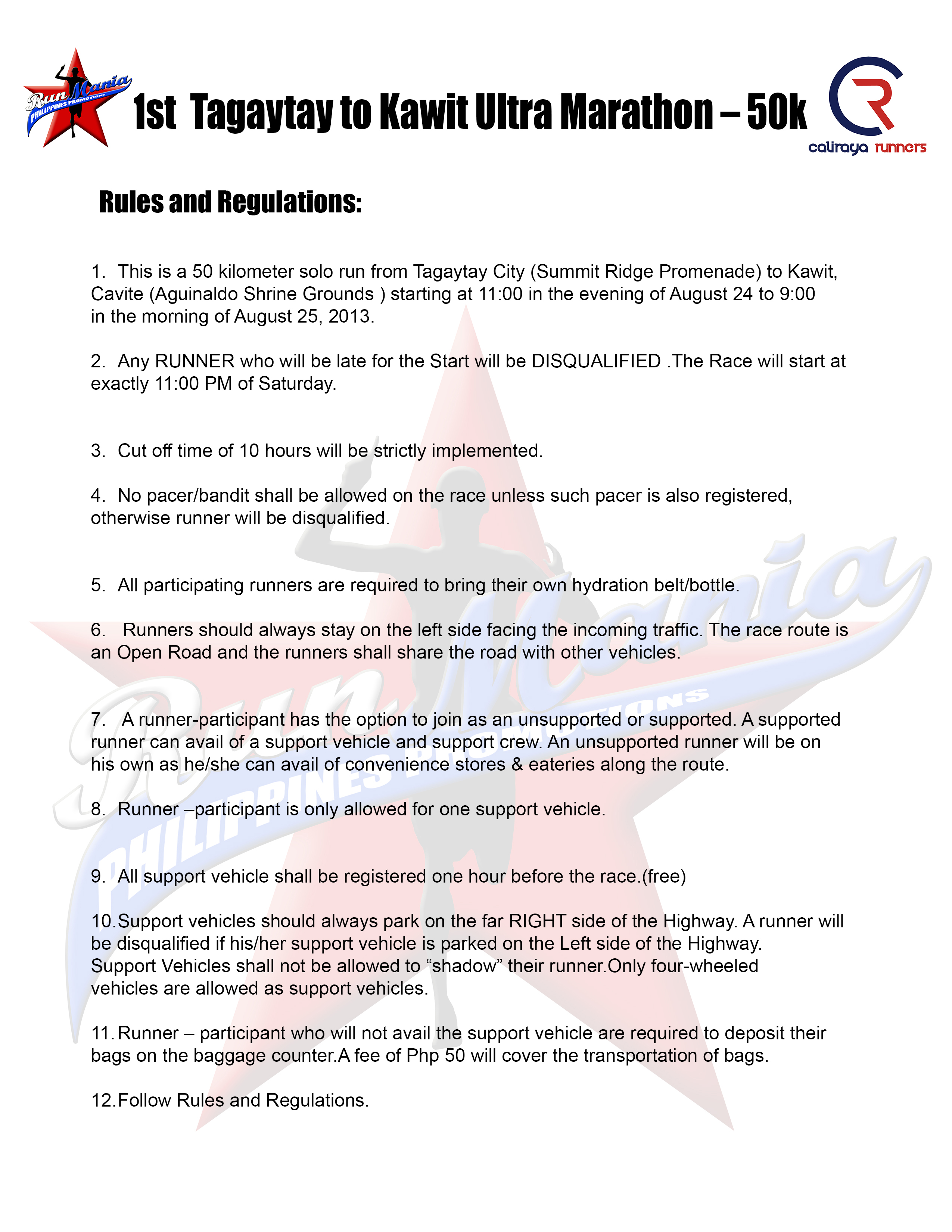 tagaytay-to-kawit-50k-ultramarathon-2013-rules-and-regulations