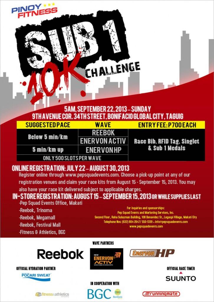 pinoy fitness sub1 10k challenge