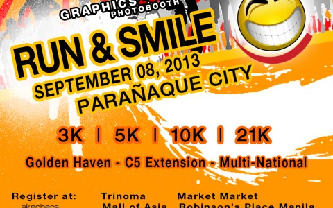 run and smile poster 2013
