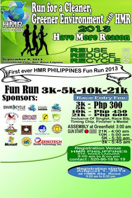 run-for-a-cleaner-and-greener-environment-with-HMR-2013-poster