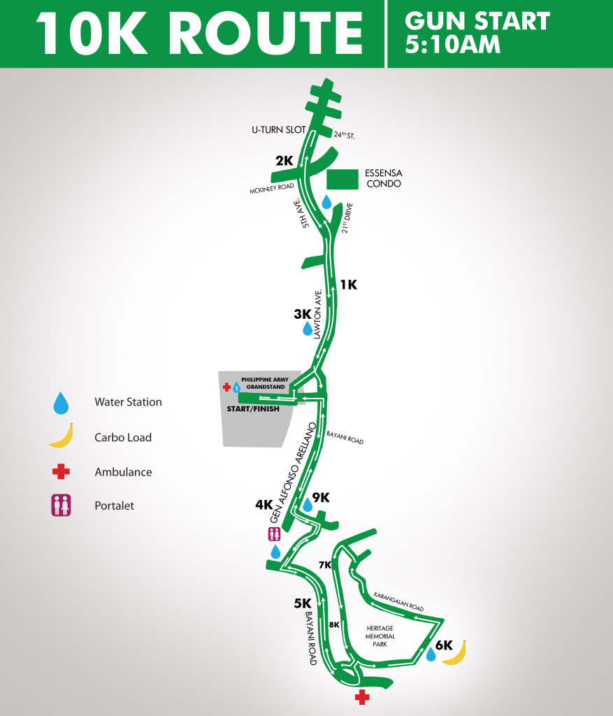 10k Route map