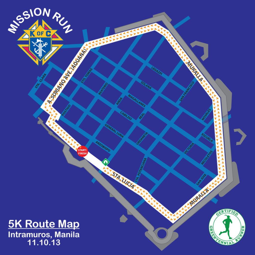 Mission Run Map 5K