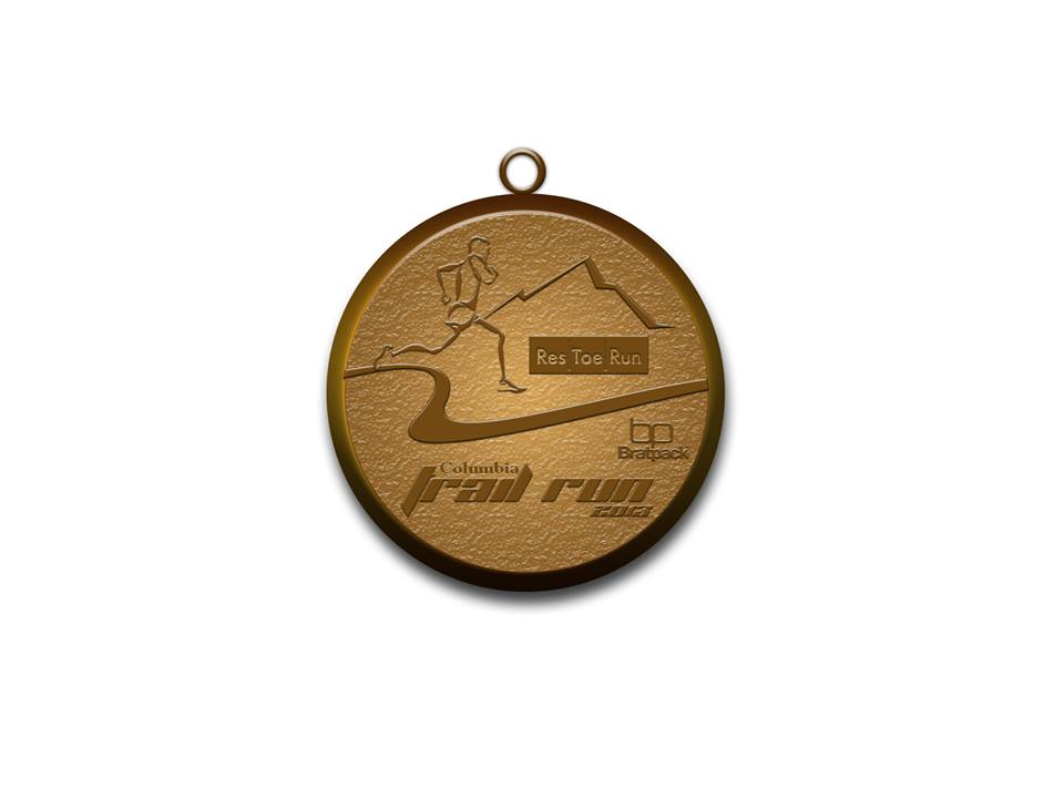1st Columbia Eco Trail Run-Medal