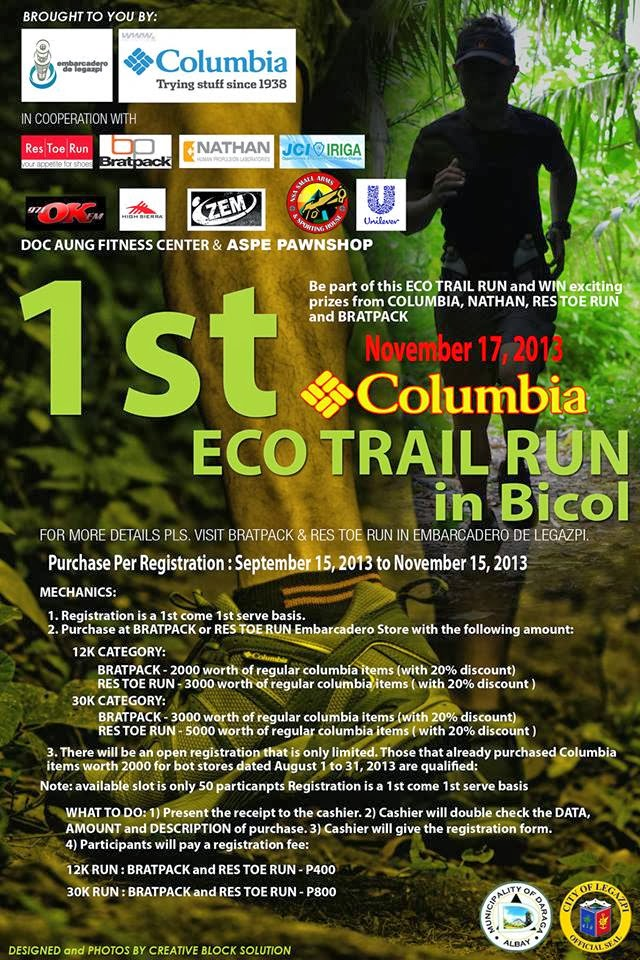 1st Columbia Eco Trail Run-Poster