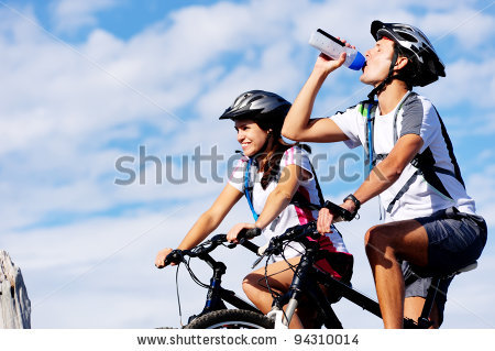 stock-photo-cyclist-drinking-water