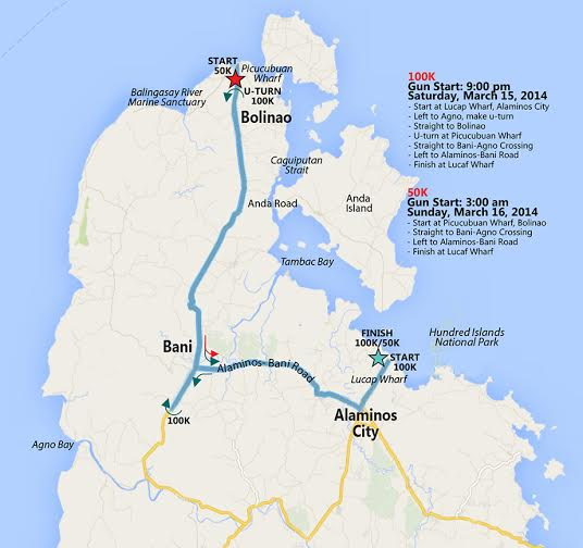 100-islands-100k-ultra-international-marathon-2014-route-map